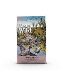 TASTE OF THE WILD Lowland Creek 6,6 kg su keptomis putpelėmis ir kepta antiena