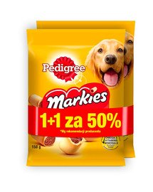 PEDIGREE Markies 30x150g - traškūs sausainiai šunims (15 vnt. 50%)