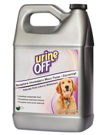 URINE OFF Dog & Puppy Formula šlapimo kvapą ir dėmes naikinanti priemonė 3,78 l