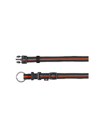 Trixie antkaklis Fusion Collar 30 – 45 cm / 17 mm juodas - oranžinis
