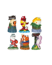Trixie dekoracija jūros gyvūnai 12 vnt 7 cm