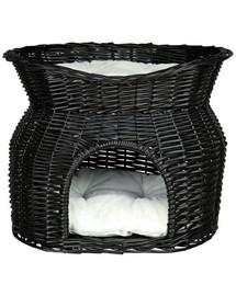 Trixie pintas krepšys su dvejomis gulimomis vietomis 54x43x37 cm juodas