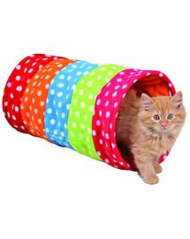 Trixie spalvotas tunelis katėms 25 X 50 cm