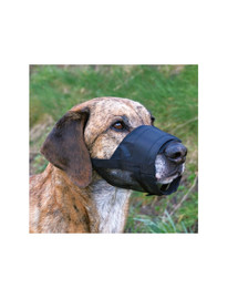 Trixie juodas šuns antsnukis su tinkline apačia L