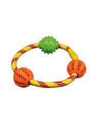 Trixie Denta Fun apskrita virvė su kamuoliukais 20 cm