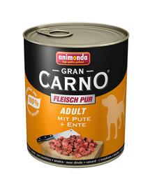 Animonda Grancarno Adult 400 g suaugusių šunų konservai su jautiena ir ančių širdelėmis