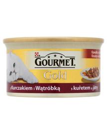 Gourmet Gold vištienos ir kepenėlėmių gabaliukai padaže 85 g