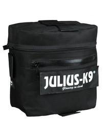 Trixie dvigubas krepšys pritaikytas šuniui Julius-K9, juodas