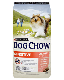 Purina Dog Chow Adult Sensitive su lašiša 14 kg