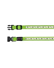 Trixie antkaklis su šviesa ir USB, L–XL 50–60 cm/25 mm, žalias