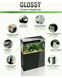 Aquael Glossy 100 LED stačiakampio akvariumo komplektas