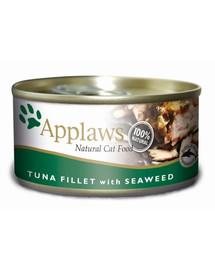 APPLAWS Skardinė tuno katėms su jūros dumbliais 156 g