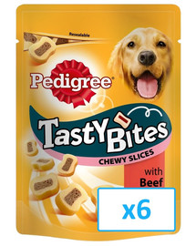 Pedigree Tasty Bites Chewy Slices 6 X 155 g