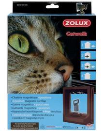 Zolux durų landa katėms medinėms durims su magnetiniu užraktu ruda