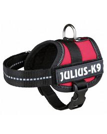 Trixie petnešos Julius-K9 Harness L 66–85 cm raudonos