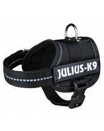Trixie Julius-K9 petnešos šunims M-L 58-76 cm x 40 mm juodos spalvos