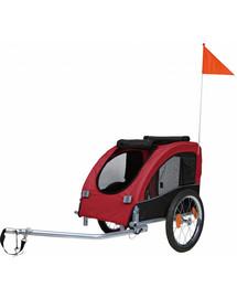 Trixie priekaba dviračiui 45 × 48 × 74 cm raudona-juodas