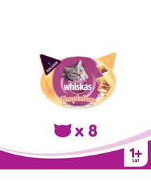 Whiskas Temptations skanėstas su vištiena ir sūriu 60 g X 8