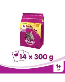 WHISKAS Adult sausas maistas katėms su vištiena 14 x 300 g
