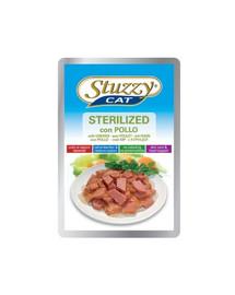 Stuzzy Sterilized - su vištiena strerilizuotoms katėms 100 g