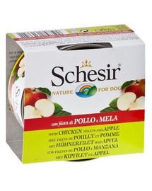 Schesir Fruit vištiena su obuoliais 150 g