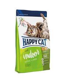 Happy Cat Fit & Well Indoor Adult su ėriena 300 g