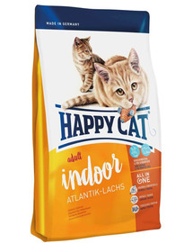 Happy Cat Fit & Well Indoor Adult su lašiša 300 g