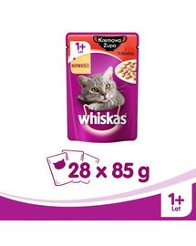 Whiskas kreminė sriuba su jautiena 85 g X 28