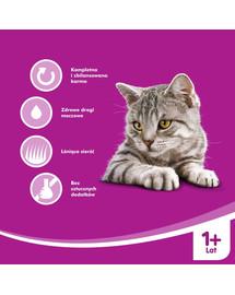 WHISKAS konservuotas kačių maistas su vištiena 400 g