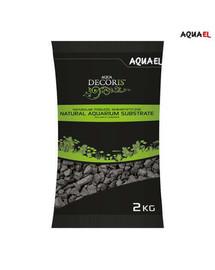 AQUAEL natūralus bazalto gruntas akvariumui 2-4 mm 2 kg