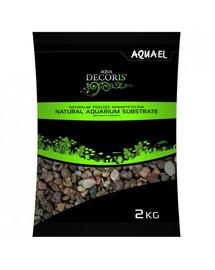 Aquael natūralus įvariaspalvis gruntas  5-10 mm 2 kg