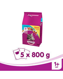 WHISKAS Steril losos 800G X5