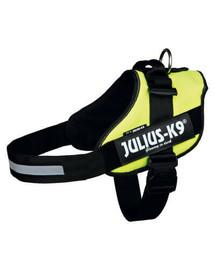 TRIXIE Julius-K9 petnešos, dydis 1/L 63-85 cm neoninės žalios