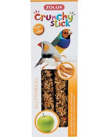 Zolux Crunchy Stick burbuolės egzotiniams paukščiams su soromis ir obuoliais 85 g