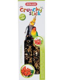 Zolux Crunchy Stick burbuolės didelioms papūgoms su serbentais ir šermukšniais 115 g