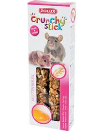 Zolux Crunchy Stick burbuolės žiurkėms ir pelėms su avižomis ir kiaušiniais 115 g