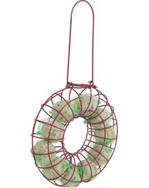 Zolux apvali metalinė lesyklėlė riebaliniam maistui raudona 24x7x43 cm
