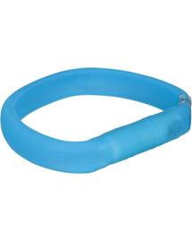 Trixie šviečiantis antkaklis su USB M–L: 50 cm / 30 mm mėlynas
