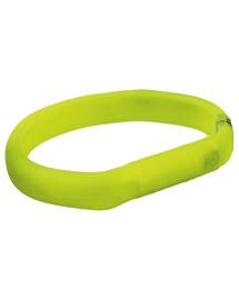 Trixie šviečiantis antkaklis su USB L–XL: 70 cm / 17 mm žalias