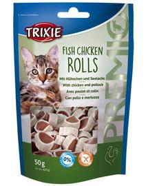 Trixie Rolls skanėstai su vištiena ir lašiša 50 g  42702