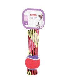 Zolux žaisliukas teniso kamuoliukas ant virvės 23 cm