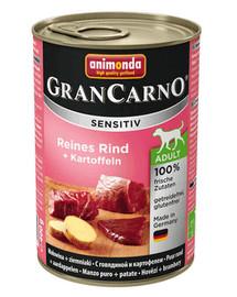 ANIMONDA Grancarno Sensitive konservai su jautiena ir bulvėmis 400 g