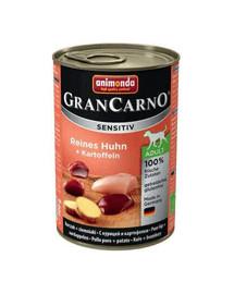 ANIMONDA Grancarno Sensitive konservai su vištiena ir bulvėmis 800 g
