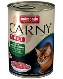 Animonda Carny Adult su jautiena, ikrais ir bruknėmis 400 g