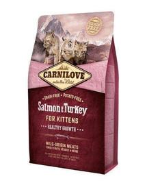 CARNILOVE Kitten Losos/Krůtí pro koťata 2 kg
