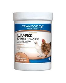 Francodex Pluma-Pick papildas skatininantis naminių paukščių plunksnų augimą 250 g