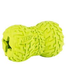 NERF Gumová pískací pamlsková hračka M červený/zelený