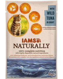 IAMS Naturally Adult Cat with Wild Tuna in Gravy 85 g