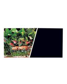 Hagen dvipusis fonas akvariumui augalai/juodas 30 cm x 7.5 m