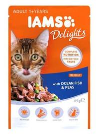 IAMS Cat Adult All Breeds Ocean Fish & Green Beans In Gravy 85 g
